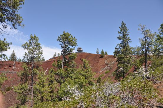 Lava Butte lookout, Newberry National Volcanic Monument