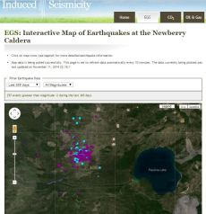 LBNL brings the Newberry EGS Demonstration site to life with an interactive map of microseismic data collected at the Newberry project site.